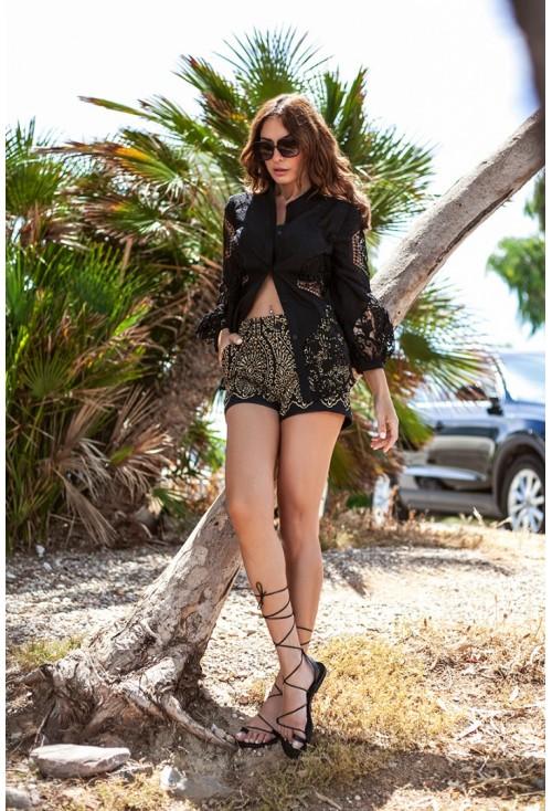 Shorts Black-Gold