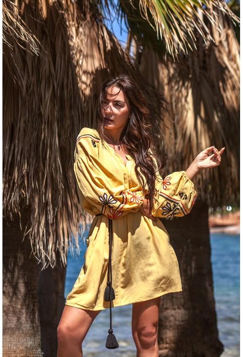 Boho Yellow Dress